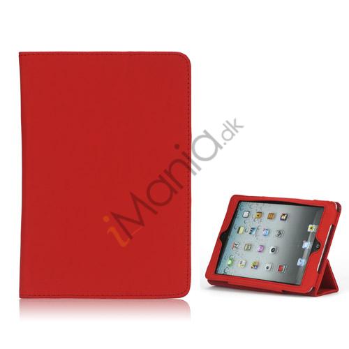 Image of   HOT Flip Magnetic PU Læder Stand Case Cover til iPad Mini - Rød