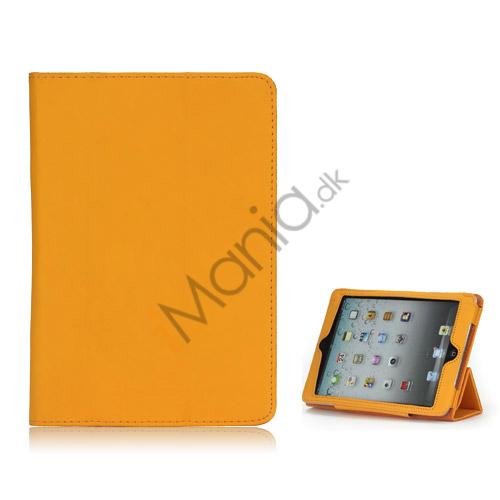 Image of   HOT Flip Magnetic PU Læder Stand Case Cover til iPad Mini - Orange