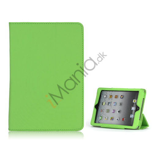 HOT Flip Magnetic PU Læder Stand Case Cover til iPad Mini - Grøn