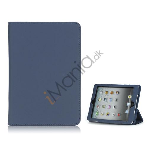 Image of   HOT Flip Magnetic PU Læder Stand Case Cover til iPad Mini - Mørkeblå