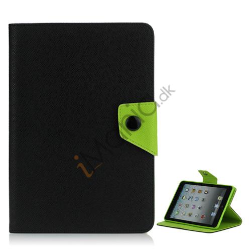 Image of   Magnetic Folio Mønstret Læder Stand Case Cover til iPad Mini - Sort