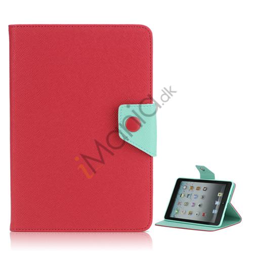 Image of   Magnetic Folio Mønstret Læder Stand Case Cover til iPad Mini - Rød