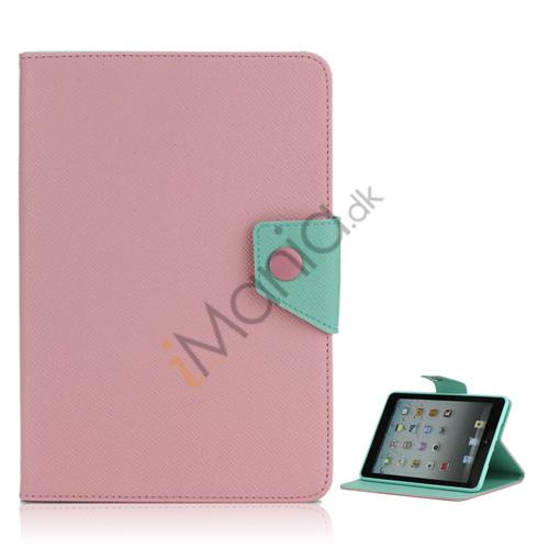 Image of   Magnetic Folio Mønstret Læder Stand Case Cover til iPad Mini - Pink