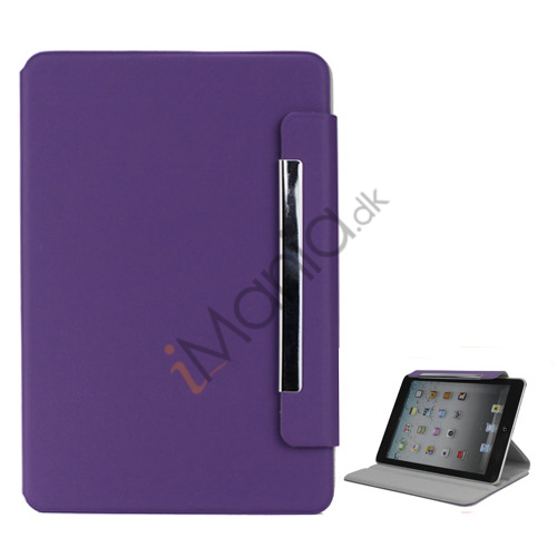 Image of   Grain Line 360 Rotating Magnetic Leather Case with Wake Sleep Function til iPad Mini - Lilla