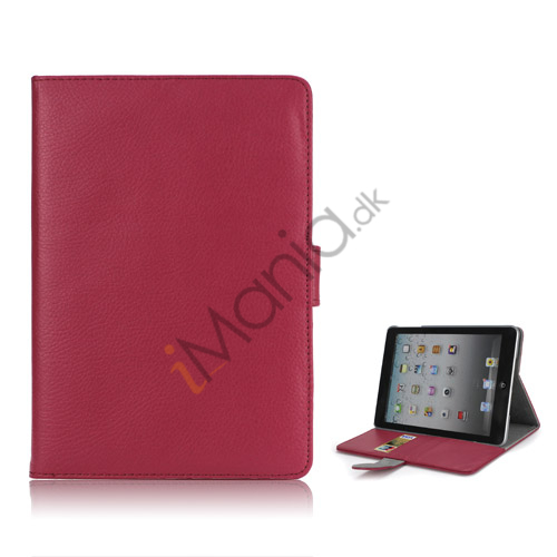 Image of   iPad Mini Smart Cover Magnetic Stand PU Lychee Leather Case - Rose