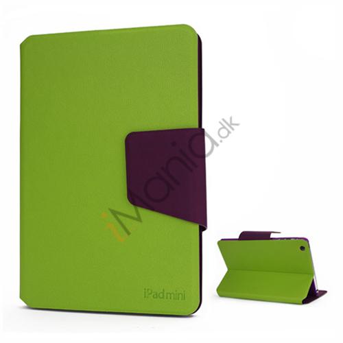 Billede af Magnetiske Smart Folio Læder Card Slots Stand Case Cover til iPad Mini - Grøn