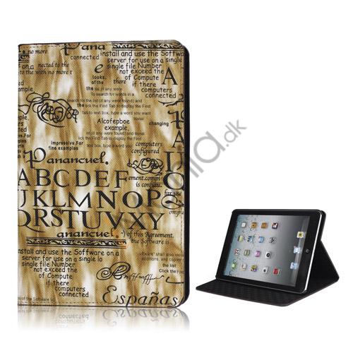 Image of   Lys Streamer English Words Mønster Smart Læder Stand Case til iPad Mini - Brun