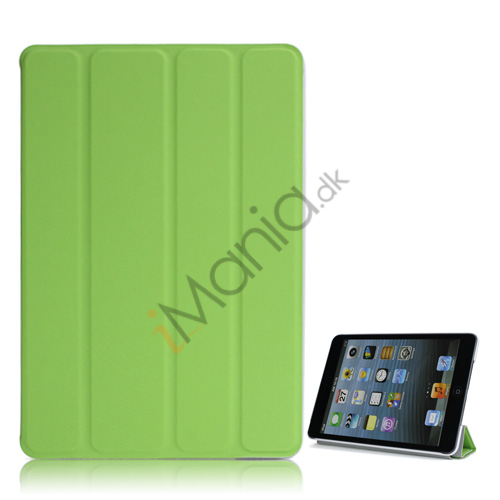 Ny Excellent Spider PU Læder Smart Cover Case Stand the iPad Mini - Grøn