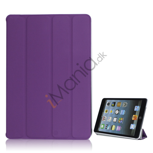 Ny Excellent Spider PU Læder Smart Cover Case Stand the iPad Mini - Lilla