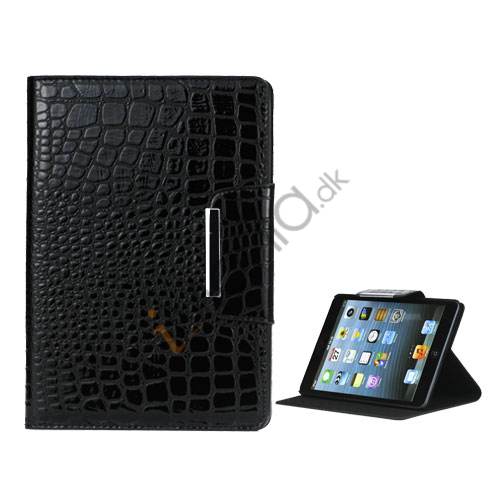 Image of   Contempo Croco Læder Book-Style Case med Magnet Lukning til iPad Mini - Sort