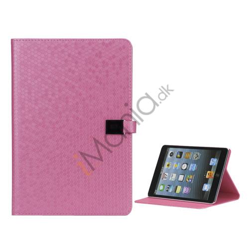 Image of   Fodbold Grain PU Læder Card Stand Case Cover til iPad Mini - Pink