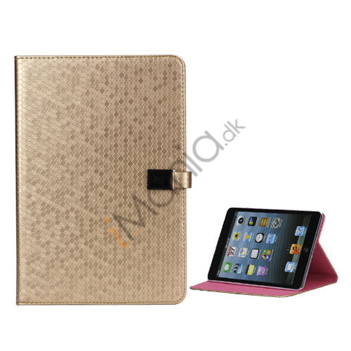 Fodbold Grain PU Læder Card Stand Case Cover til iPad Mini - Golden