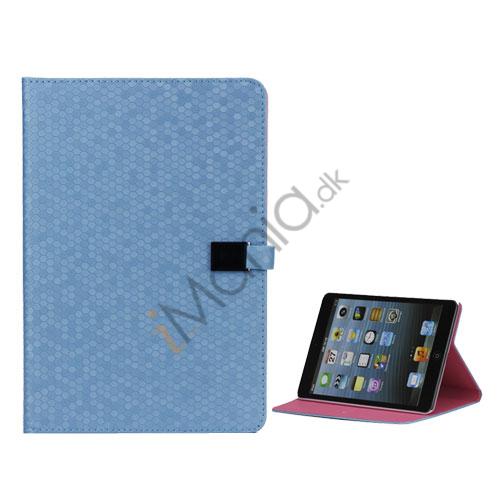 Image of   Fodbold Grain PU Læder Card Stand Case Cover til iPad Mini - Baby Blå