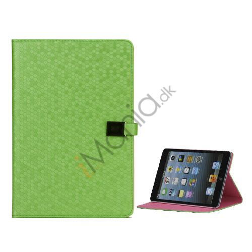 Image of   Fodbold Grain PU Læder Card Stand Case Cover til iPad Mini - Grøn