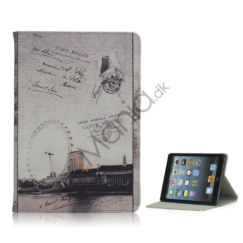 Image of   Classic London Ferris Wheel Læder Beskyttende Case Stand Cover til iPad Mini