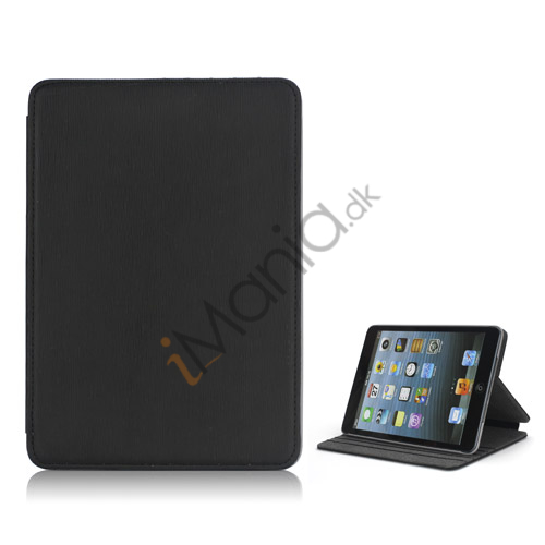 Image of   Book Style tandstikker Design Læder Stand Case til iPad Mini - Sort