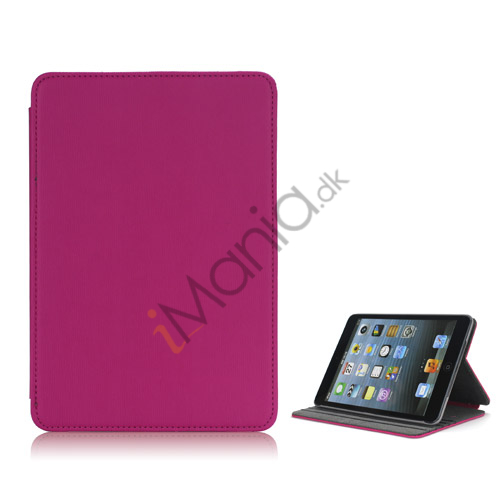 Image of   Book Style tandstikker Design Læder Stand Case til iPad Mini - Rose
