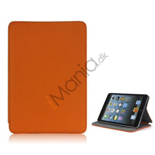 Image of   Book Style tandstikker Design Læder Stand Case til iPad Mini - Orange