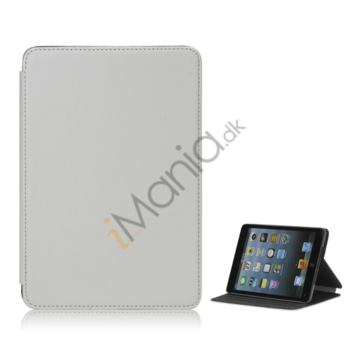 Image of   Book Style tandstikker Design Læder Stand Case til iPad Mini - Hvid