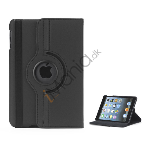 Image of   360 graders roterende Stand Fabric Folio Case til iPad Mini - Sort