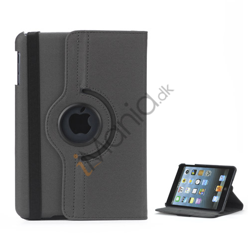 Image of   360 graders roterende Stand Fabric Folio Case til iPad Mini - Dark Grå