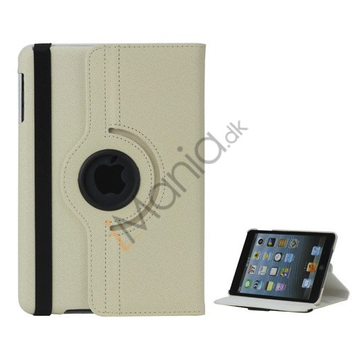 Image of   360 graders roterende Stand Fabric Folio Case til iPad Mini - Hvid