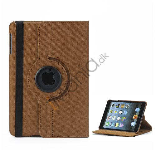 Image of   360 graders roterende Stand Fabric Folio Case til iPad Mini - Brun