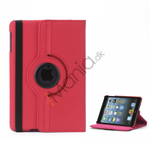Image of   360 graders roterende Stand Fabric Folio Case til iPad Mini - Rød