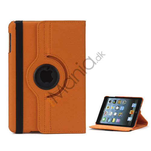 Image of   360 graders roterende Stand Fabric Folio Case til iPad Mini - Orange