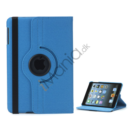 Image of   360 graders roterende Stand Fabric Folio Case til iPad Mini - Baby Blå