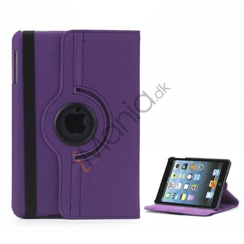 Image of   360 graders roterende Stand Fabric Folio Case til iPad Mini - Lilla