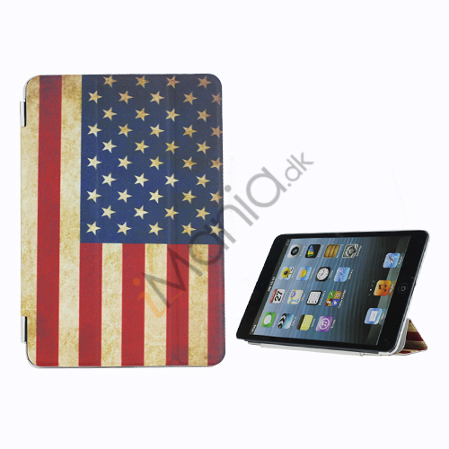American USA National Flag Premium Læder og Hard Back Beskyttende Case til iPad Mini