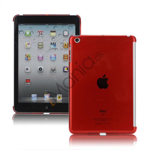 Image of   Clear Smart Cover Companion Crystal Case Cover til iPad Mini - Translucent Rød