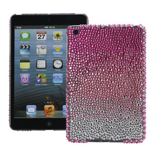 Image of   Hvid Pink Rose Gradient Color Sparkling Rhinestone Beskyttende Hard Case til iPad Mini