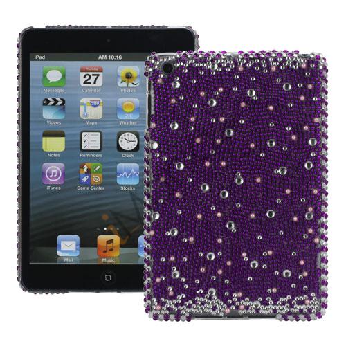 Image of   Shiny Lilla Rhinestone Diamond Pearl Hard Case til iPad Mini