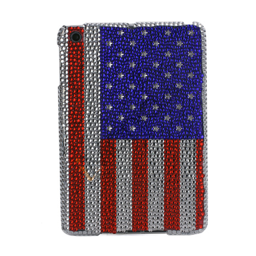 Image of   Bling Diamante American National Flag Hard Case Cover til iPad Mini
