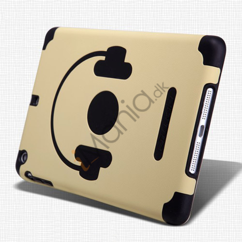Billede af Nillkin glad musik Headphone Style Plastic and Silikone Combo Taske til iPad Mini - Sort / Khaki