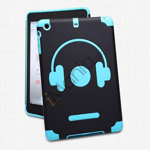 Billede af Nillkin glad musik Headphone Style Plastic and Silikone Combo Taske til iPad Mini - Blå / Sort