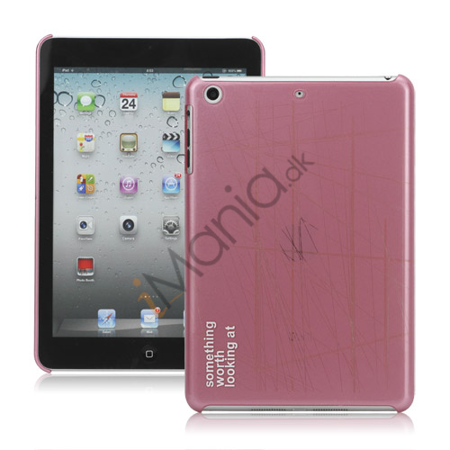 Sketch Line Hard Case Cover til iPad Mini - Pink