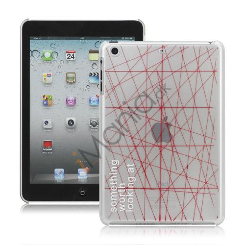 Rød Line Hard Plastic Cover til iPad Mini - Hvid