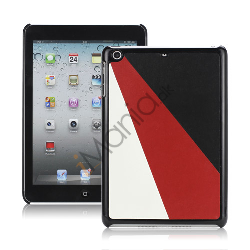 Image of   Colorful Triplex Leather Coated Hard Case Accessories til iPad Mini - Sort / Rød / Hvid