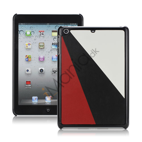 Image of   Colorful Triplex Leather Coated Hard Case Accessories til iPad Mini - Hvid / Sort / Rød