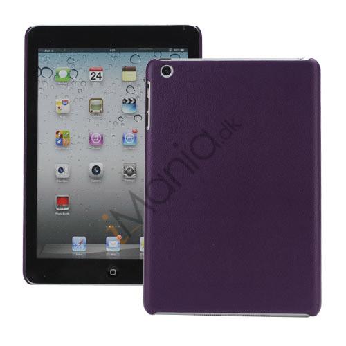 Ultra-slank Lychee Skin Design Hard Cover Case Tilbehør til iPad Mini - Lilla