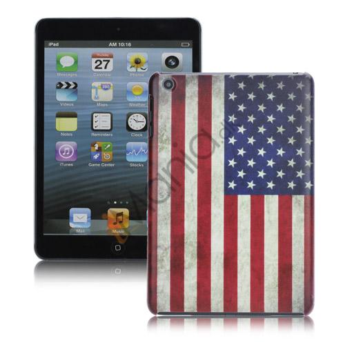 Image of   Retro Unique Slim USA National Flag Hard Back Case Cover til iPad Mini
