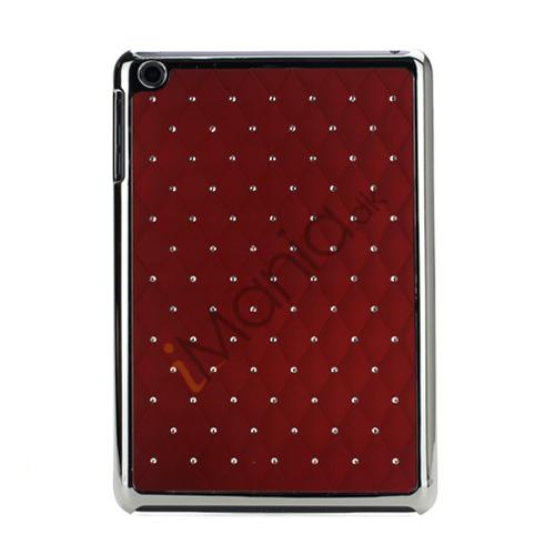 Image of   Elegant Starry Sky Bling Diamond Hard Case Cover Tilbehør til iPad Mini - Rød