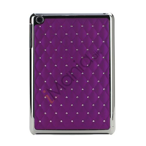 Image of   Elegant Starry Sky Bling Diamond Hard Case Cover Tilbehør til iPad Mini - Lilla