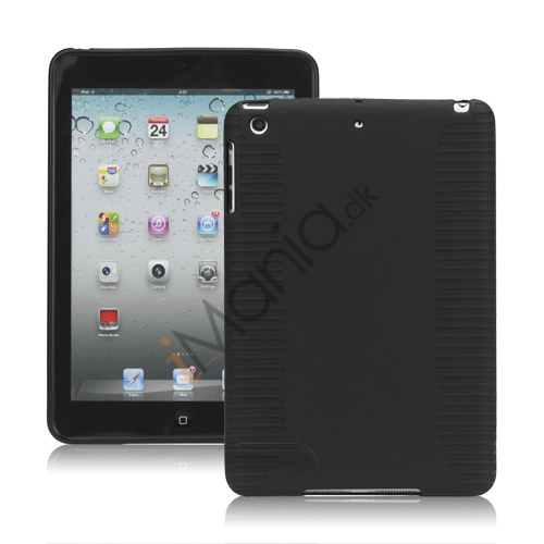 Skidproof TPU Gel Case Cover til iPad Mini - Sort