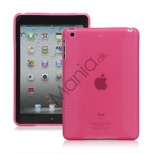 Skidproof TPU Gel Case Cover til iPad Mini - Pink