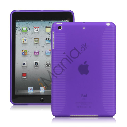 Skidproof TPU Gel Case Cover til iPad Mini - Lilla