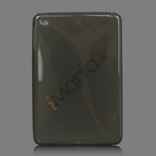 Glossy TPU Gel Case Cover til iPad Mini - Sort